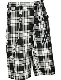 Nix Gut Tartan, Women's Shorts In Slim Fit Style, Color Black/White
