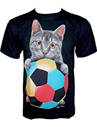 Rock Chang T-Shirt * Cat Football * Glow In The Dark * Noir GR608
