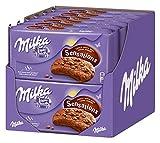 Milka Sensations Choco Innen Soft / Schoko-Cookies mit knuspriger Hülle und weichem Schoko-Kern / 12 x 156g