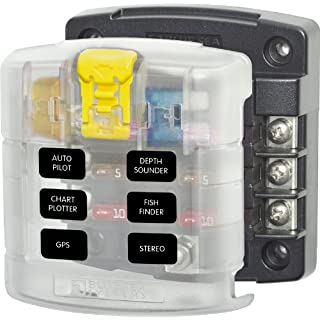 Blue Sea Systems ST Blade Fuse Block - 6 Circuits with Cover