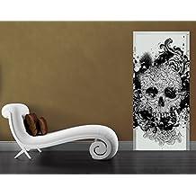 Fotomurale adhesivo para puertas Skull, Größe:XL - 118.5x208.5cm;Größe:0cm x 0cm