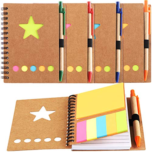 4 Pieces Spiral Notebook 280 She...