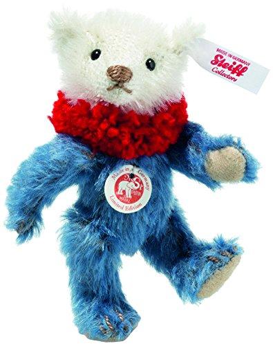Steiff 006463 Dolly Mini Teddybär Mohair blau/weiß 10 CM