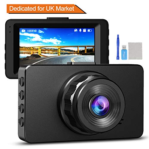 "Dash Cam 1080P Full HD Dashcams for Cars DVR Dash Camera WDR Video Recorder in Car Camera Dash Cam with Super Night Vision,170 Wide Angle 3"" IPS Screen Loop Recording,G-Sensor,Motion Parking Monitor"