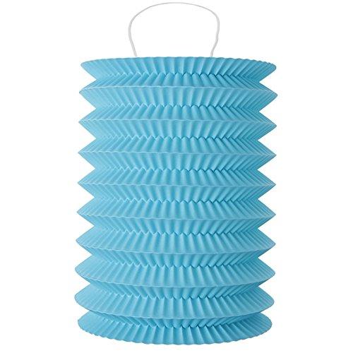 Laternen 10 x 18 cm 2 Stk türkis - Papierlaternen Lampions Ballon Papierlampion Windlichter - 4996
