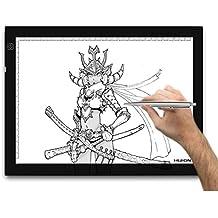 Huion A4 – Tablero de trazado digital para artes gráficas con luz LED de 17.7 pulgadas. Color negro y