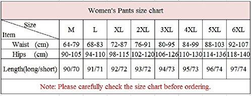 YiLianDa Donna Pantaloni Lungo Skinny Pantaloni delle Signore Perfetto per Casual e Ufficio Nero(3/4)