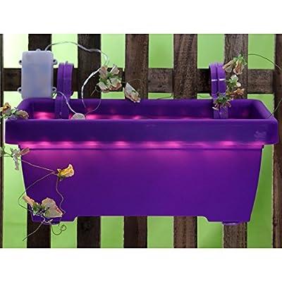 Blumenkasten Pflanzkasten Balkonkasten Pflanzschale LED Beleuchtung Blumentopf, Farbe:lila von sonstige - Du und dein Garten