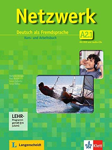 Netzwerk A2: Deutsch als Fremdsprache / Deutsch als Fremdsprache. Kurs- und Arbeitsbuch mit DVD und 2 Audio-CDs