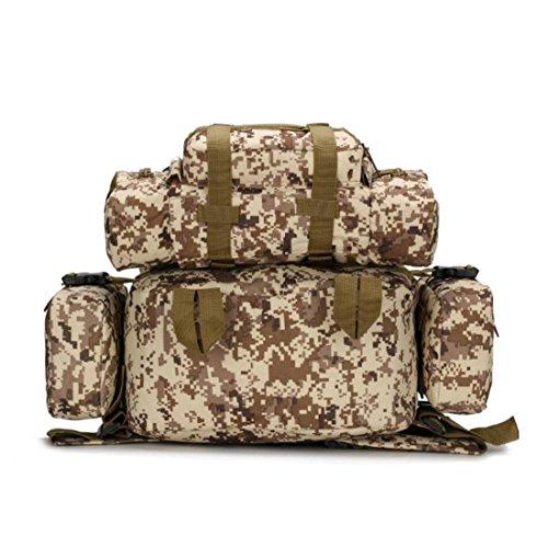 LF&F Backpack Camping outdoor Zaini Borse Viaggio Panno di Oxford Indossabile zaino all'aperto esercito camuffamento montagna scalata impermeabile 33L doppio zaino spalle G 33L J