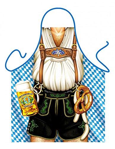 Gestandenes Mannsbild mit Bier, Breze und Lederhose - witzige Geschenk-Idee zu Volksfest und Wiesn (Männlichen Oktoberfest Kostüme)