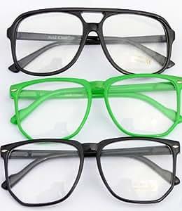 Nerd Clear Brillen XXL Set 3 Fette Brillen