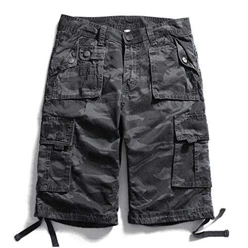 Summer Military Camo Cargo Fashion Camouflage Multi-Pocket Army Casual Shorts Homme Bermudas -
