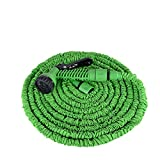 Aufun Gartenschlauch Flexibler 30m 100FT Dehnbarer Flexischlauch Flexi Wasserschlauch Flexibel Multisfunktionsbrause mit 7 Funktionen für Garten (Grün, 30m)