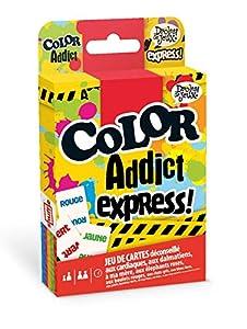 Droles de Juegos Color Addict Express-jeu de 55Tarjetas, 130008025, Amarillo