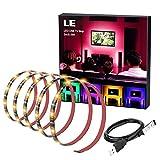 LE LED Strip, TV Hintergrundbeleuchtung, USB RGB LED Streifen, 2m Kit für 40-60 Zoll TV, 60 Stücke 5050 LEDs, ideal für Raumausstattung, Dekoration, Ambientbeleuchtung