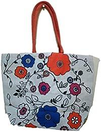 DSK Enterprise Jute Multi Color 14.5*18.5 Inch Eco Friendly Jute Bag Eith Chain (DSKE-13)