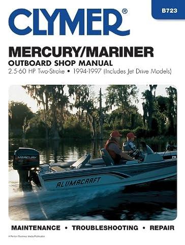 Mercury/Mariner Outboard Shop Manual, 2.5-60 HP, 1994-1997 (Includes Jet Drive Models)