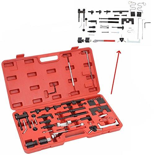 MCTECH Zahnriemen Werkzeug Satz Motoreinstell Werkzeug Arretierwerkzeug Timbertech Motor-Einstellwerkzeug im Werkzeugkoffer Aus Robustem Carbonstahl