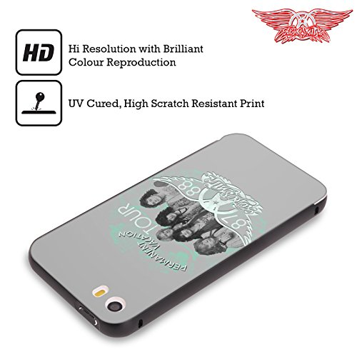 Ufficiale Aerosmith Loud Proud Arte Da Poster 3 Nero Cover Contorno con Bumper in Alluminio per Apple iPhone 5 / 5s / SE Permanent Vacation Tour