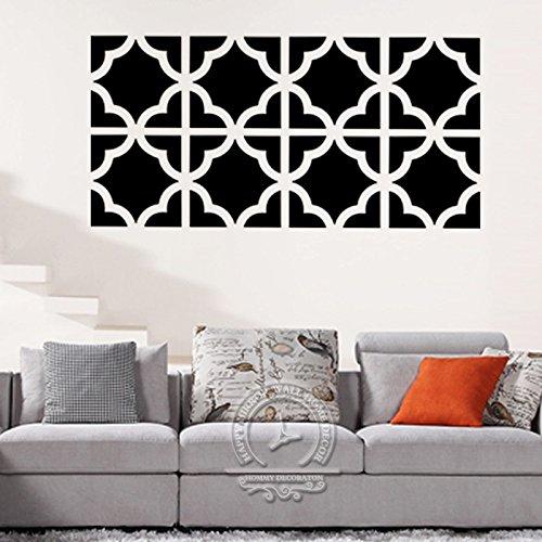 Tv-riser 4 (Poowef Tv-Kulisse_Art 3D Crystal Stereo Aufkleber Diy Acryl Spiegel Wand-Tv Wohnzimmer Schlafzimmer Dekoration, 1 Sätze Mit 4 Stück, Schwarz, 30 X 120 Cm)