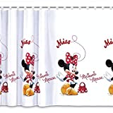 Gardine MINNIE MOUSE IN RED Teil 150B x 157L Kinderzimmer Vorhang DISNEY