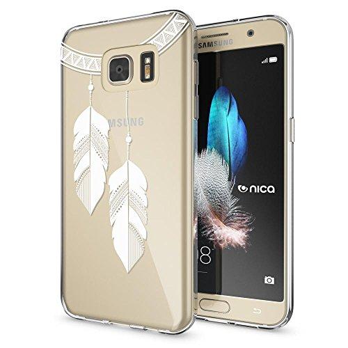 delightable24 Cover Case in Silicone TPU per Smartphone SAMSUNG GALAXY S7, Designs:Chain Feathers