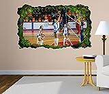 3D Wandtattoo Volleyball Spiel Frauen Turnier selbstklebend Wandbild Tattoo Wohnzimmer Wand Aufkleber 11L1774, Wandbild Größe F:ca. 97cmx57cm