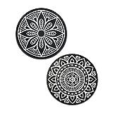 VAVA Metallplättchen Set für Magnet KFZ Handyhalterungen Auto 2 Kreisen Metallscheibe Weite Kompatibilität Rostfreies Eisenmaterial feste Klebkraft