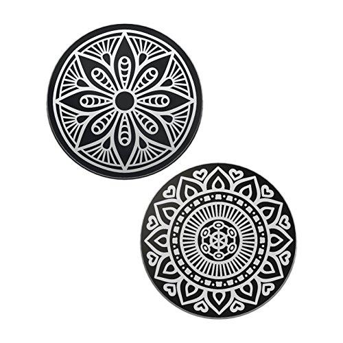 n Set für Magnet KFZ Handyhalterungen Auto 2 Kreisen Metallscheibe Weite Kompatibilität Rostfreies Eisenmaterial feste Klebkraft (Magnet-set)