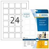 Herma 9642 QR-Code Etiketten quadratisch, blickdicht (40 x 40 mm, DIN A4 Papier matt) 600 Aufkleber, 25 Blatt, weiß, bedruckbar, selbstklebend
