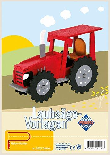 Pebaro 355S - Laubsägevorlage mit Motiv Traktor