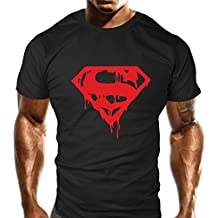 NEW Homme Evil Drip Rouge Sport pour Femme–Haut Formation–Sport–Bodybuilding Casual Coupe ample Top