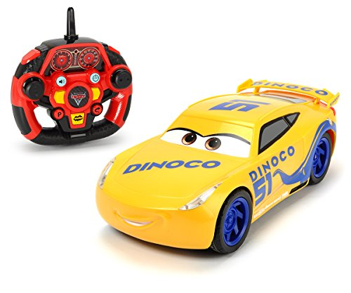 "Dickie Toys 203086006 - \""Cars 3 Ultimate Cruz Ramirez\"", RC Fahrzeug, ferngesteuertes Auto mit vielen Funktionen, 1:16, 26cm"