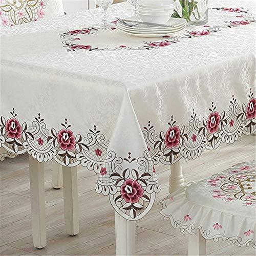 WXQQ Tischdecke ölfest Wasserdicht Mehrzweck Innen und Außen White 90x150cm -