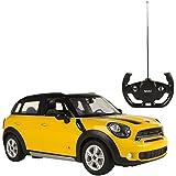 Rastar - Mini Countryman, coche teledirigido, escala 1:14, color amarillo (ColorBaby 75991)