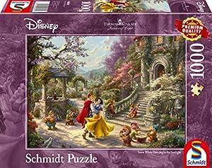 Schmidt Spiele Puzzle 59625 Thomas Kinkade, Disney, Danza de Blancanieves con el príncipe, 1000 Piezas