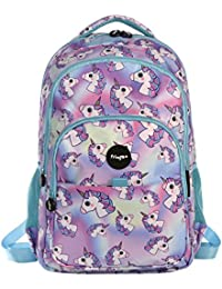 Fringoo Girls Boys Multi-Compartment Waterproof Fits Laptop School Backpack, 44 cm