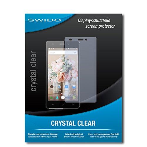 SWIDO Schutzfolie für Doogee X5 [2 Stück] Kristall-Klar, Hoher Härtegrad, Schutz vor Öl, Staub & Kratzer/Glasfolie, Bildschirmschutz, Bildschirmschutzfolie, Panzerglas-Folie