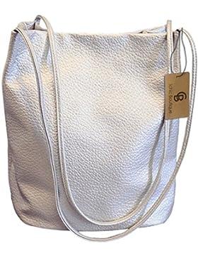 Eimer Tasche Damen Handtasche Leder Schultertasche Umhängetaschen Beutel