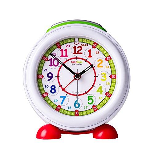 EasyRead time teacher ERAC-COL-24Réveil pour Enfants, Cadran Arc-en-Ciel 12-24 Heures