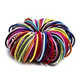 Munax 100-count Ouchless Ponytail titolari Effortless beauty no-damage Elastics elastici per capelli, 3mm
