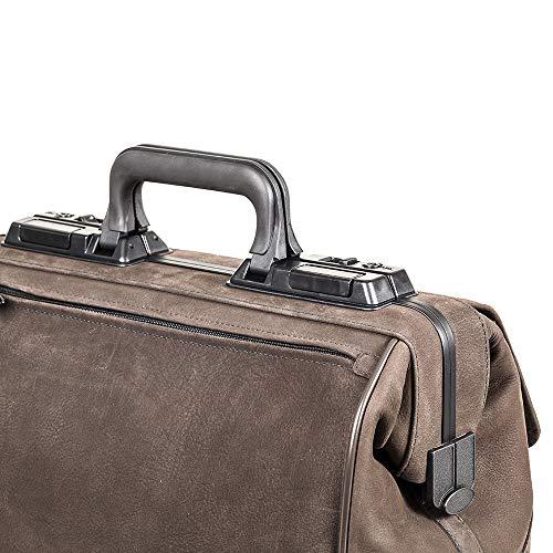 Durasol RUSTICANA Arzttasche-Braun Kleine Größe 1 Fronttasche Rindsleder-Krankenschwester / Arzt Medizinische Geräte Tasche