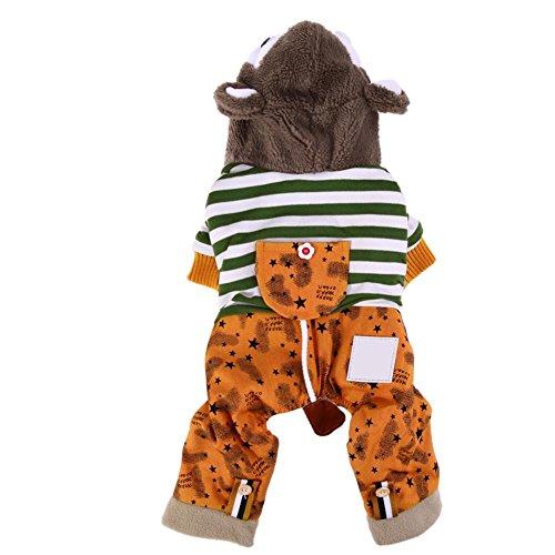 d Hund Kleidung Hoodie Vier bein Pet Hund Baumwolle für Wurm Shirt Festival Pullover Gelb (S), xxl ()
