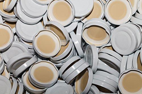 slkfactory 15St. Twist-Off-Deckel TO48 mm Verschluss weiß für Glasflaschen Milchflaschen Deckel (15 Stück)