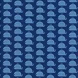 Baumwollstoff | Die glücklichen Wale Stoff - Azurblau und Marineblau | 100% Baumwolle | Stoffbreite: 160 cm (pro Laufmeter)*