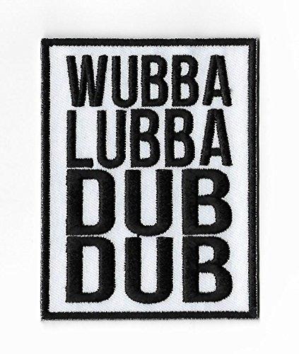 Rick und Morty Patch (9cm) Wubba lubba Dub Dub bestickt Eisen/Nähen auf Badge Aufnäher Souvenir DIY (Meeseeks Kostüm)