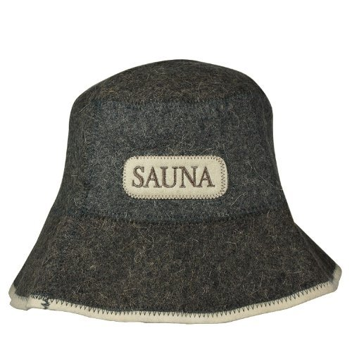 Saunahut mit Stickerei, aus Filz (Filzkappe, Saunamütze) 5177-1507