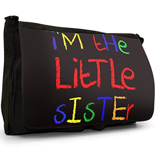 Fancy A Bag Borsa Messenger nero I'm The Baby Sister I'm The Little Sister
