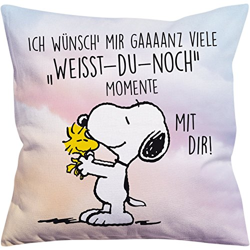 Peanuts Snoopy Collection - Kissen Weisst-du-noch-Momente, 40 x 40 cm